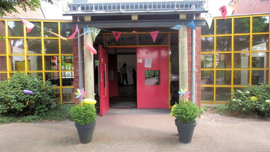 Bild: Eingang Kindergarten Wietkamp Strolche Schüttorf